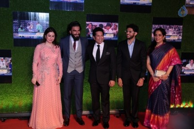 Indian Cricket Team at Special Screening Of Film Sachin A Billion Dreams