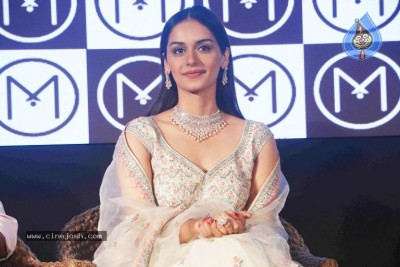 Manushi Chhillar At Press Conference Of Malabar Jewellery Event