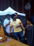 Ram Charan Birthday Celebrations in Orange Sets
