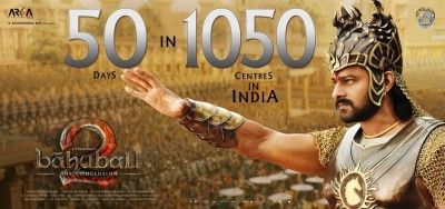 Baahubali 2 Movie 50 Days Centers Poster