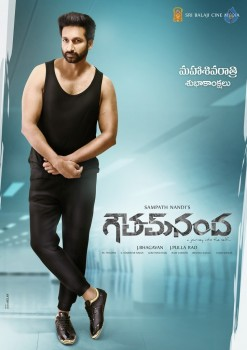 Gautham Nanda Action Look Poster and Photo
