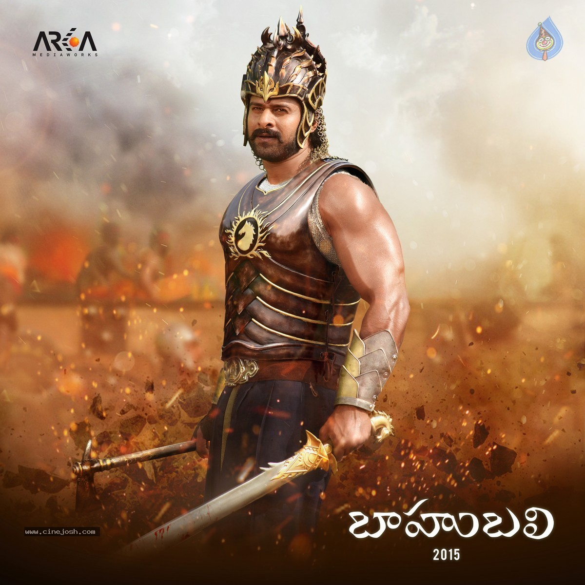 Hd wallpaper bahubali 2 - Bahubali Prabhas New Poster Hd 1 Of 2