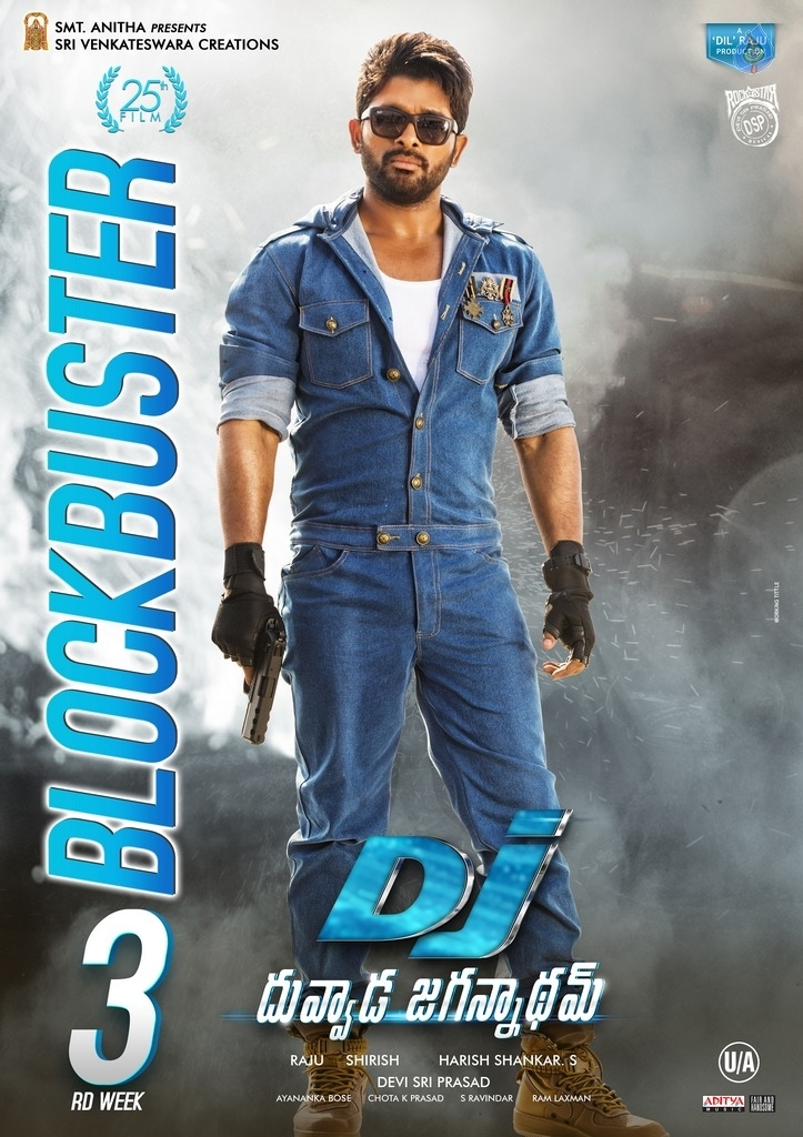 Dj Duvvada Jagannadham 3rd Week Posters Photo 1 Of 3