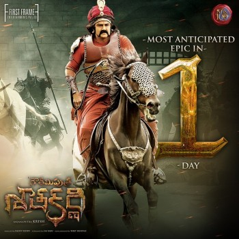 Gautamiputra Satakarni 1 Day to go Posters - 1 of 2