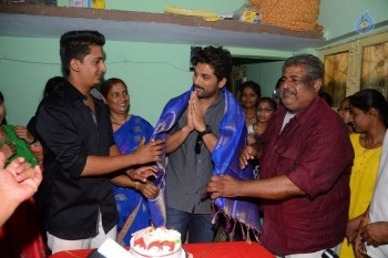 Allu Arjun at Greater Mega Fans President House