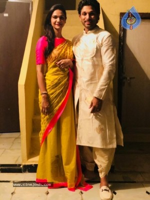 Allu Arjun Dussehra Celebration Photos