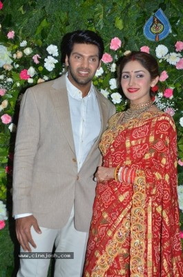 Arya and Sayesha Reception Photos