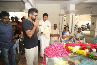 Celebrities Pay Homage To Director B Jaya Set 2