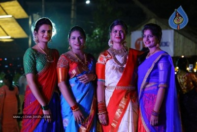 Deepthi Mamidi Organised Bathukamma Celebrations at Madhapur