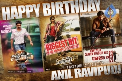 Hattrick Director Anil Ravipudi Birthday Posters