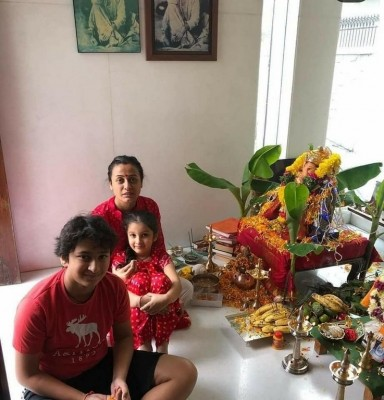 Mahesh Babu Family Celebrating Ganesh Chaturthi