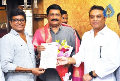 Movie Artist Association Donation To Titli Cyclone Victims