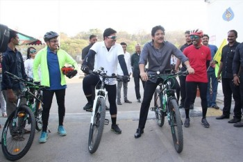 Nagarjuna Flagged Off Yoga Chakra Cyclathon