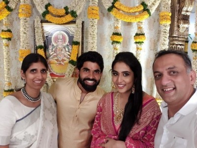 Rajamouli Son Kartikeya - Pooja Engagement Photos