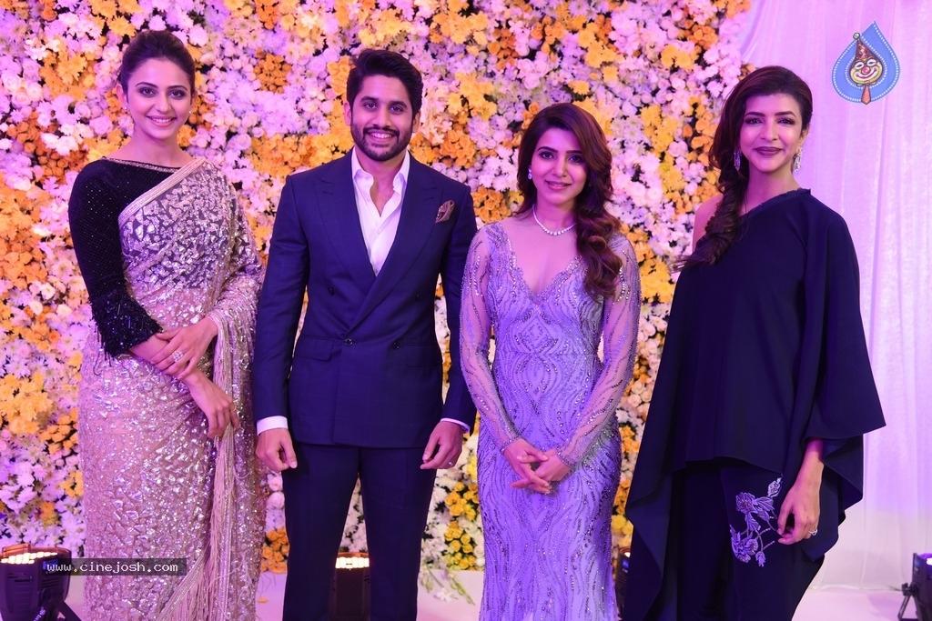 Naga Chaitanya And Samantha Wedding Reception Photos
