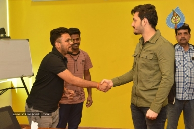 Akhil Akkineni at Radio Mirchi - 4 of 17