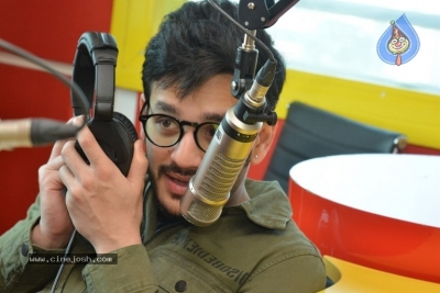 Akhil Akkineni at Radio Mirchi - 5 of 17