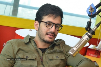 Akhil Akkineni at Radio Mirchi - 8 of 17