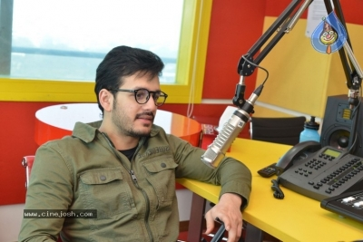 Akhil Akkineni at Radio Mirchi - 10 of 17