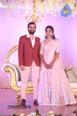 Celebrities at Harshit Reddy Wedding Reception - 21 of 65