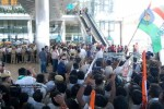 Chiru gets Rousing Reception at RGI Airport - 2 of 19