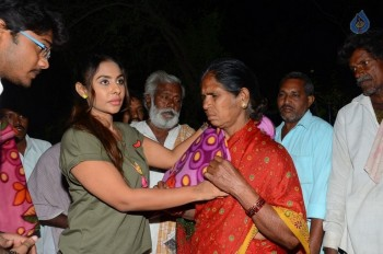 Sri Reddy Distributes Blankets for Orphans - 2 of 40