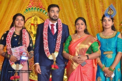 Vasu Vikram Daughter Sandhiya Wedding Reception Stills - 2 of 32