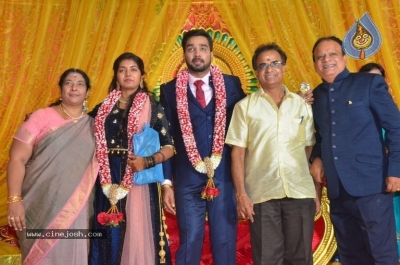 Vasu Vikram Daughter Sandhiya Wedding Reception Stills - 4 of 32