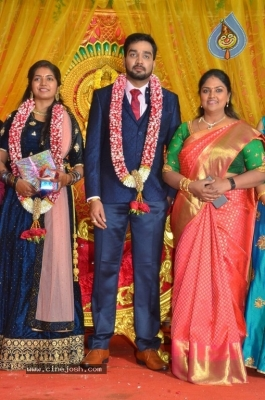 Vasu Vikram Daughter Sandhiya Wedding Reception Stills - 11 of 32