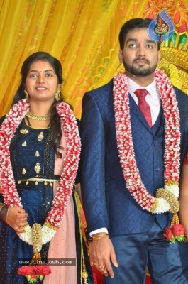 Vasu Vikram Daughter Sandhiya Wedding Reception Stills - 12 of 32