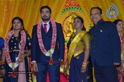 Vasu Vikram Daughter Sandhiya Wedding Reception Stills - 15 of 32