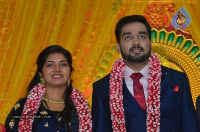 Vasu Vikram Daughter Sandhiya Wedding Reception Stills - 17 of 32