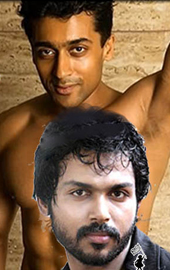 Hero Surya fighting with his brother Karthi.