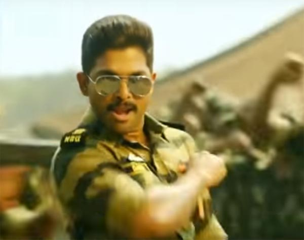 Allu Arjun Is A Military Drop Out in Sarrainodu