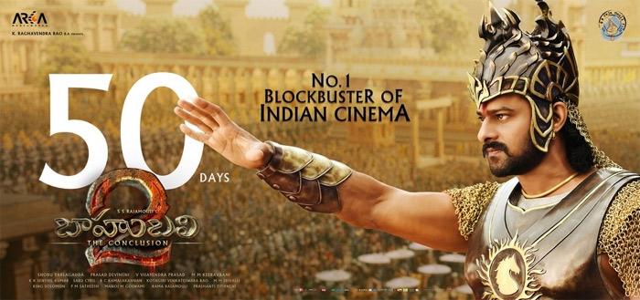 Baahubali 2 Movie 50 days record run