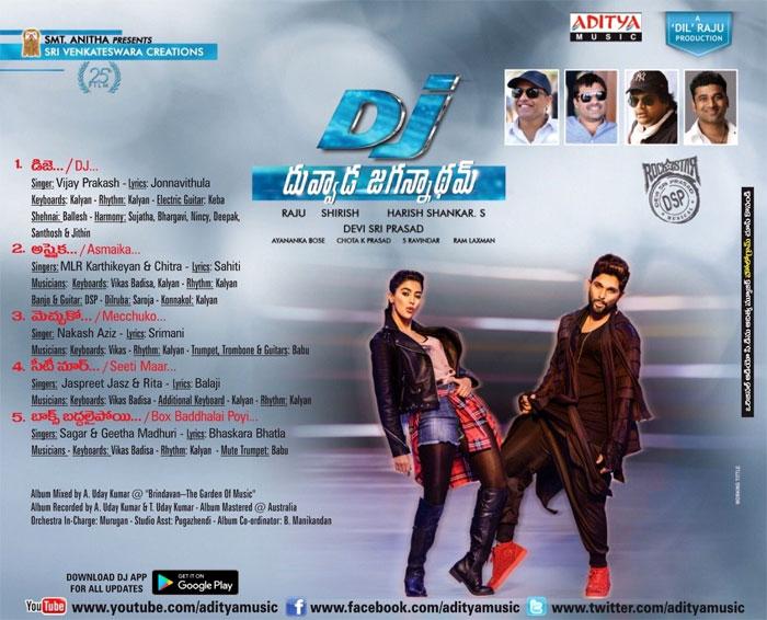 Dj Audio Track List
