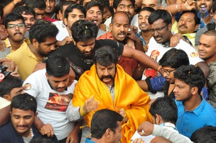 Image result for balakrishna with fans