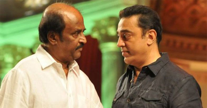 Kamal with Rajini