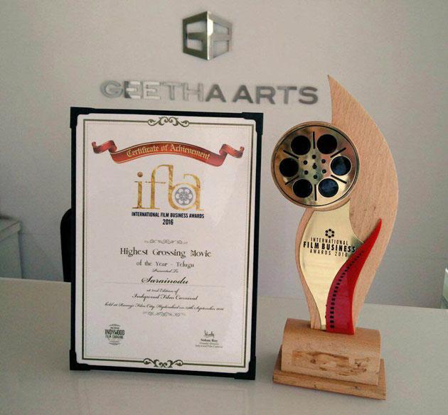 Reason for Sarrainodu's Highest Collections Award