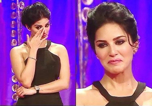 Sunny Leone cried