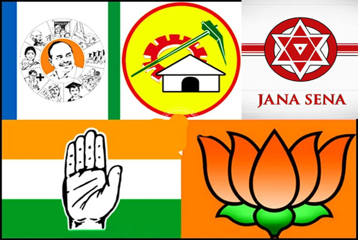 trs,tdp,janasena,bjp,ycp,andra pradesh,politics,candidates  ఎవరికి ఎవరితో లోపాయికారం ఒప్పందాలు?