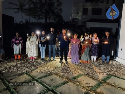 Chiru Family With Candles - 1 of 6