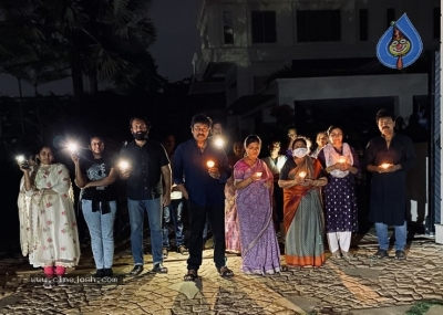 Chiru Family With Candles - 5 of 6