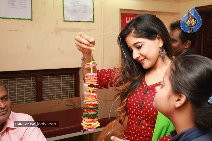 Actress Sakshi Agarwal visited Autism Affected Children Home - 1 / 7 photos