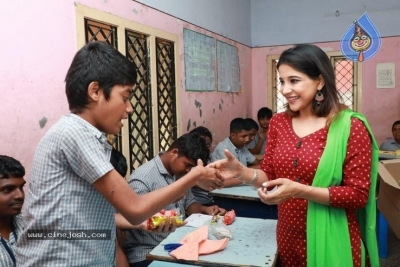 Actress Sakshi Agarwal visited Autism Affected Children Home - 2 of 7