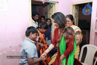 Actress Sakshi Agarwal visited Autism Affected Children Home - 6 of 7