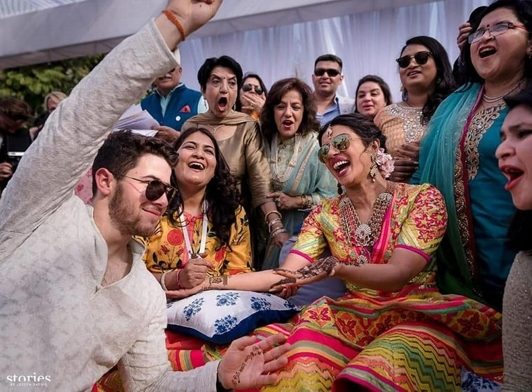 Priyanka Chopra - Nick Jonas Mehndi Celebrations - 1 / 5 photos