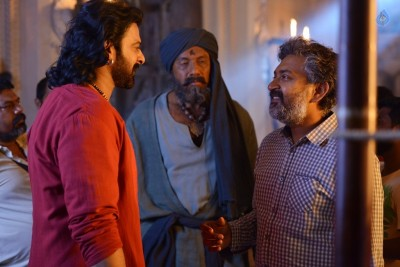 Bahubali 2 Working Stills  :17-04-2017