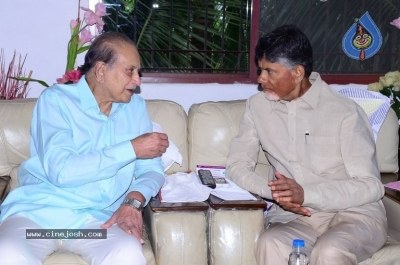 Chandrababu and Balakrishna Meet Superstar Krishna Family - 7 of 60