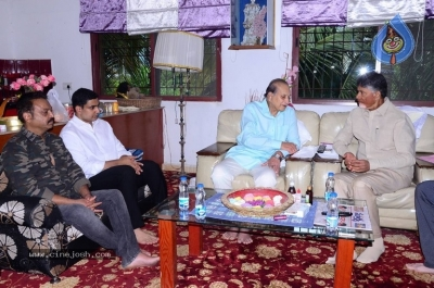 Chandrababu and Balakrishna Meet Superstar Krishna Family - 8 of 60